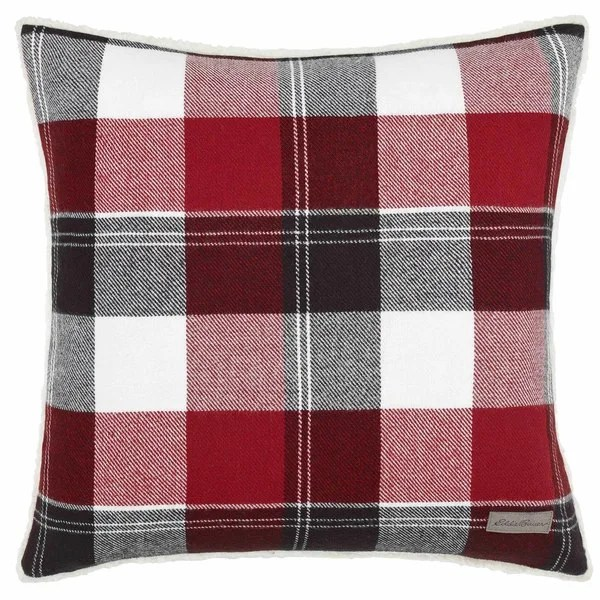 Shop Eddie Bauer Lodge Red Throw Pillow  Free Shipping On