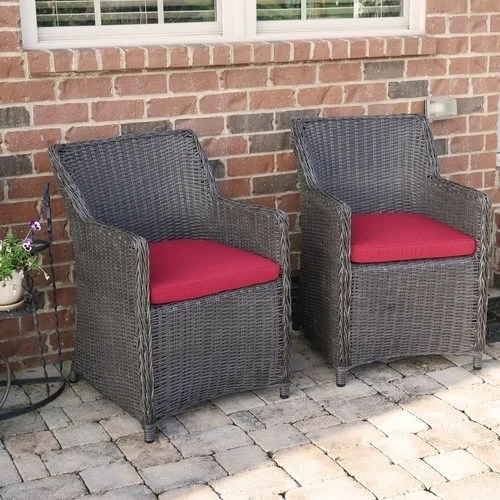 resin wicker lounge chairs wrought iron outdoor shop sea island patio chair set with red cushion of 2 free shipping today overstock com 17116094