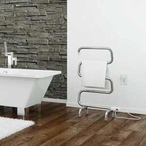 Ancona Comfort 5 - 37 in. Curved Electric Towel Warmer and Drying Rack
