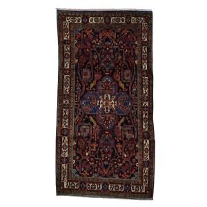 Shahbanu Rugs Hand-Knotted Pure Wool Persian Nahavanad Wide Runner Rug (5' x 10')