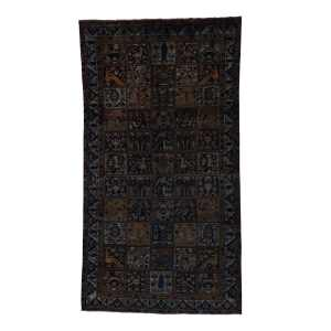 Shahbanu Rugs Hand-Knotted Wool Persian Bakhtiari Overdyed Wide Runner Rug (5' x 9') - Multi