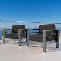 Outdoor Aluminum Chairs Best Power Lift Chair Reviews Shop Cape Coral Club With Cushions Set Of 2 By Christopher Knight