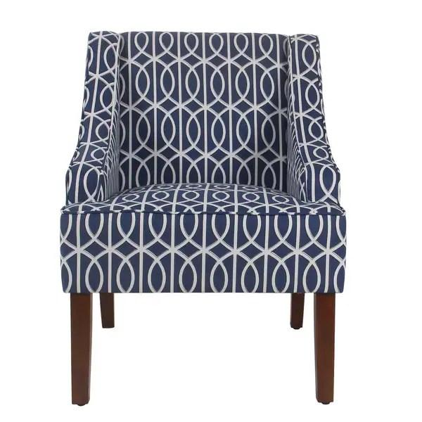 accent chair blue glider rocking canada shop porch den cammy trellis swoop on sale amp