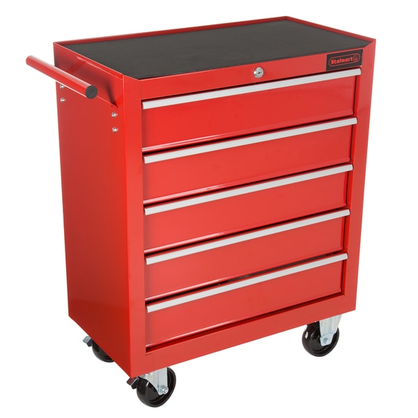 Shop Rolling Tool Box Cabinet 5 Drawer Portable Storage