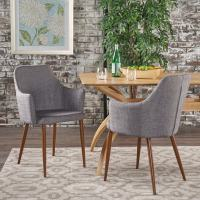 Zeila Mid-Century Modern Fabric Dining Chair (Set of 2) by ...