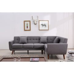 Tufted Linen Sectional Sofa Modular Design Shop Mid Century Right Facing Fabric Upholstered L Shaped