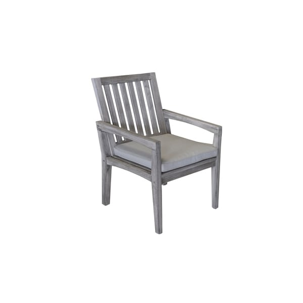 outdoor dining chairs sale chair rentals jacksonville fl shop havenside home surfside grey teak with cushion