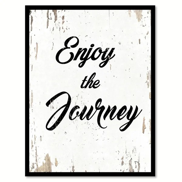 Shop Enjoy The Journey Quote Saying Canvas Print Picture