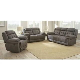 microfiber living room furniture artwork for formal buy sets online at overstock com greyson austin 3 piece reclining seating set