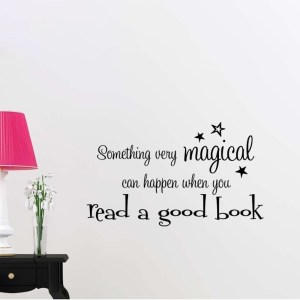 Something Magical Can Happen When You Read a Good Book Wall Vinyl
