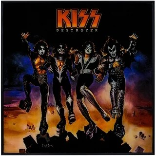 Shop KISS Destroyer Framed Album Cover Wall Art  Free Shipping On Orders Over 45  Overstock