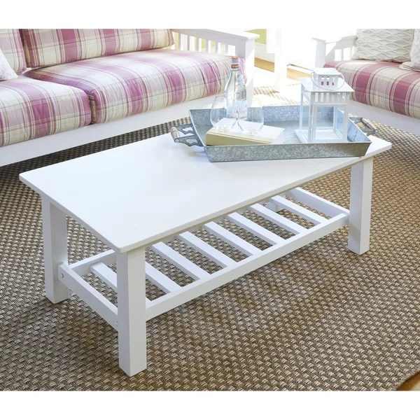 Shop Handy Living Baltimore White Wood Coffee Table With