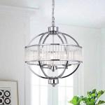Shop Black Friday Deals On Waldin Chrome Glass 3 Light Globe Pendant Overstock 17631129