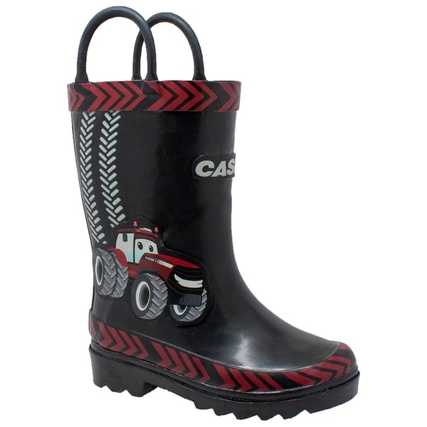 Shop Toddler39s 3D quotBig Redquot Rubber Boot Black Free