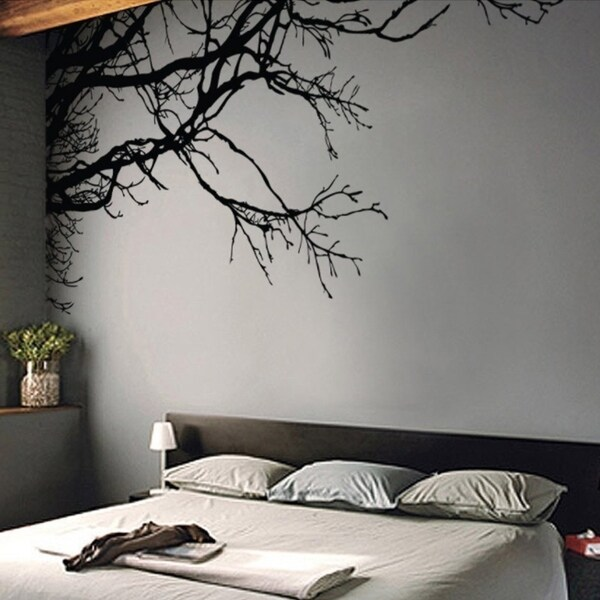shop large tree wall decal sticker black tree branches x