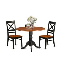 Shop DLQU3-W 3 PC Kitchen Table set-Dining Table and 2 ...