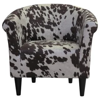 cowhide print accent chair white dining table and 6 chairs uk buy animal living room online at overstock com our best furniture deals
