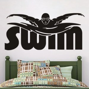 Swimmer Wall Stickers Large Size Home Decor Kids Bedroom Wall Vinyl