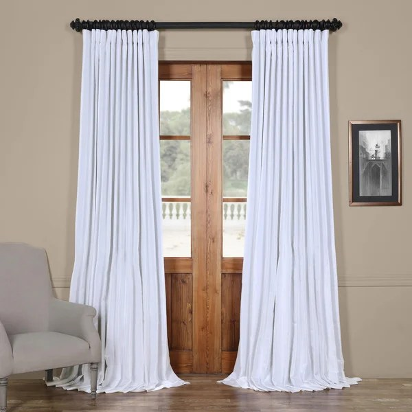 Shop Exclusive Fabrics Faux Silk Extrawide Blackout Curtain  On Sale  Free Shipping Today