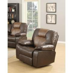 Rocker And Recliner Chair Reclining Leather Shop Lyke Home Jordy Two Tone Brown Bonded Free Shipping Today Overstock Com 17675982