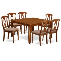Dining Table Set 6 Chairs Target Round Dorm Chair Shop Pfna7 Sbr 7 Pc Formal For And Free Shipping Today Overstock Com 17676413
