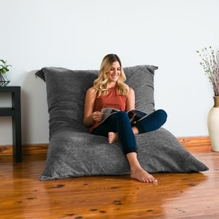jaxx bean bag chairs ribbon back dining buy bags online at overstock com our floor pillow lounger with chenille cover