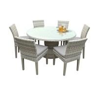 Shop Catamaran Outdoor Patio Round Wicker Dining Table ...