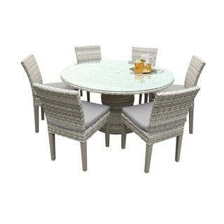 acrylic side chair with cushion that turns into a bed buy outdoor dining sets online at overstock com our best catamaran patio round wicker table glass topper and 6 chairs seat