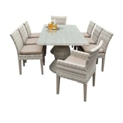 Acrylic Side Chair With Cushion Wooden Lounge Plans Buy Outdoor Dining Sets Online At Overstock Com Our Best Catamaran Patio Rectangular Wicker Table 6 Chairs And 2 Arm