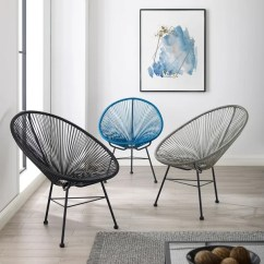 Wicker Patio Chair Set Of 2 Fitness Ball Shop Sarcelles Modern Chairs By Corvus On