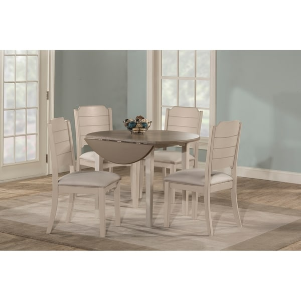 white upholstered chairs old wooden folding church shop the gray barn steeplechase drop leaf dining set with