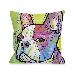 Pride with Text 16 or 18 Inch Throw 16 or 18 Inch Throw Pillow by Dean Russo