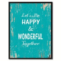 Shop Let's Be Happy & Wonderful Together Saying Canvas ...