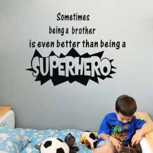 Quotes Hero Wall Stickers Vinyl Art Decor Home Baby Room Decal Wall Vinyl
