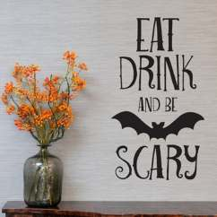 Bat Living Room Plus Kitchen Design Shop Halloween Decal Wall Stickers Removable Glass Showcase Decor Vinyl