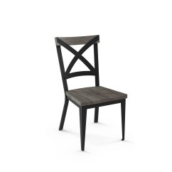Black Metal And Wood Dining Chairs Wingback Chair Upholstery Ideas Carbon Loft Prescoft Table