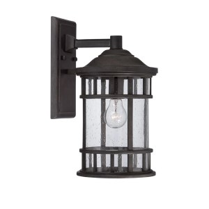 Acclaim Lighting Vista II Collection Wall-Mount 1-Light Outdoor Black Coral Light Fixture