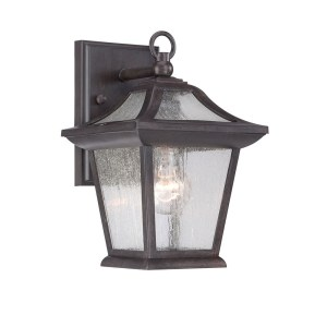 Acclaim Lighting Aiken Collection Wall-Mount 1-Light Outdoor Black Coral Light Fixture