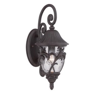 Acclaim Lighting Capri Collection Wall Lantern 1-Light Outdoor Black Coral Light Fixture