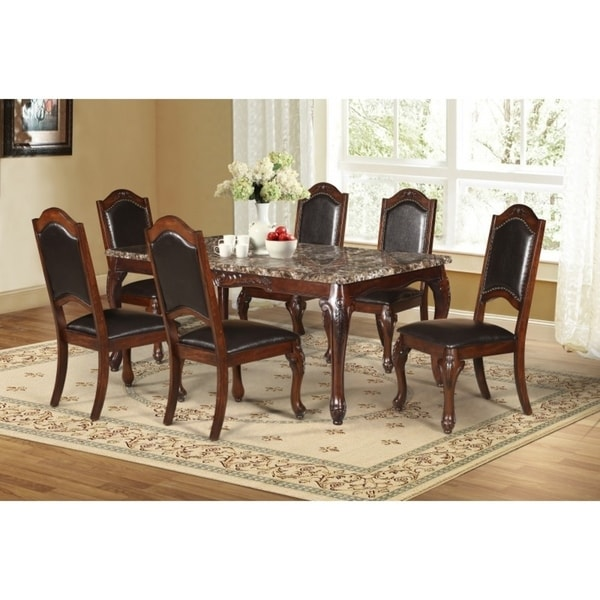 Shop Best Quality Furniture 7 Piece Faux Marble Table Top