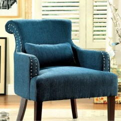 Dark Teal Accent Chair Gaming With Surround Sound And Vibration Shop Agalva Contemporary Color Fabric Free Shipping Today Overstock Com 17970925