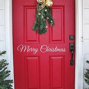 Christmas Wall Decal Vinyl Merry Christmas Front Door Decoration Christmas Decor Wall Vinyl