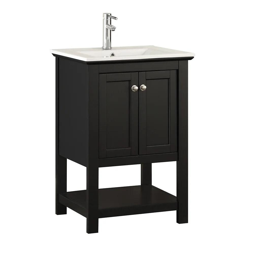 Shop Fresca Manchester 24 Black Traditional Bathroom Vanity Overstock 17981775