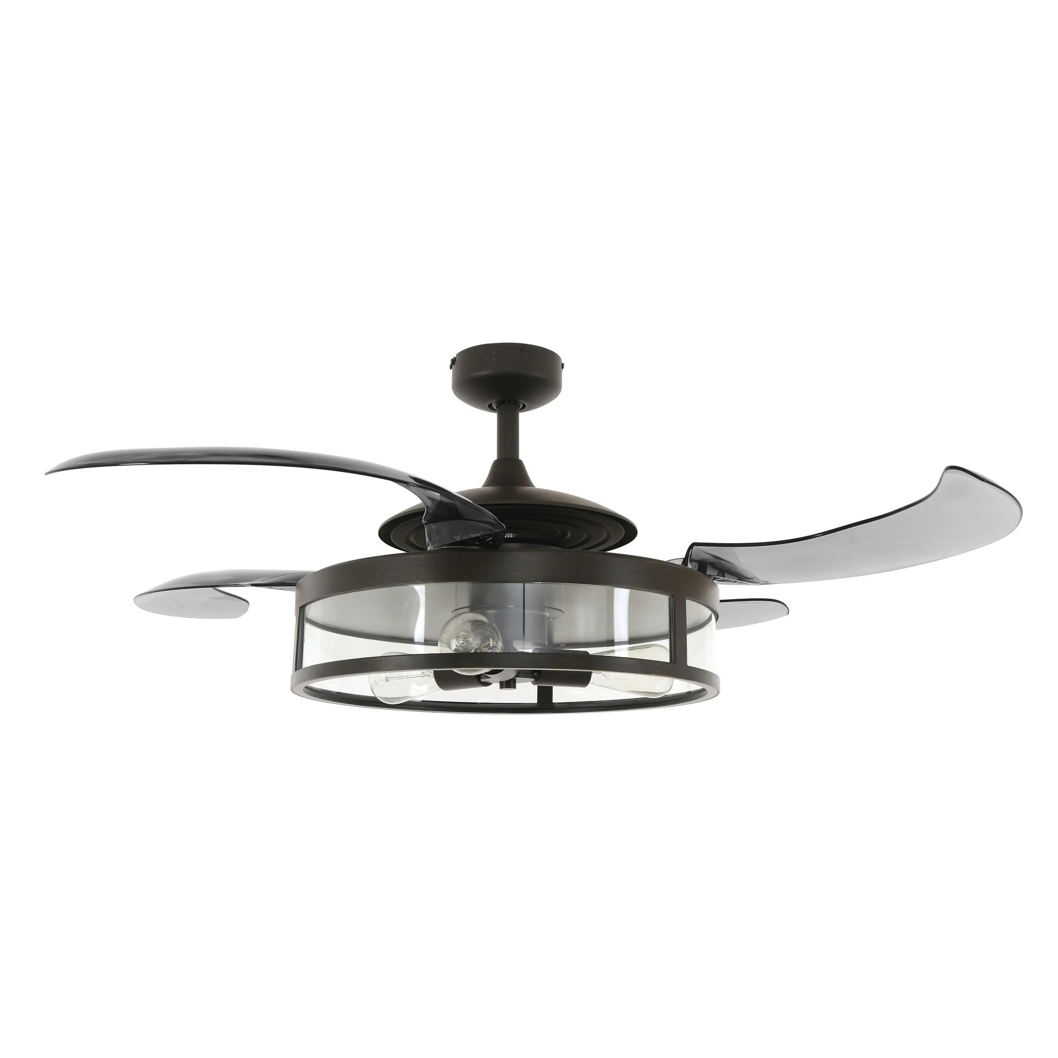 Shop Black Friday Deals On 48 In Antique Black Ceiling Fan With Remote Control Overstock 17995874