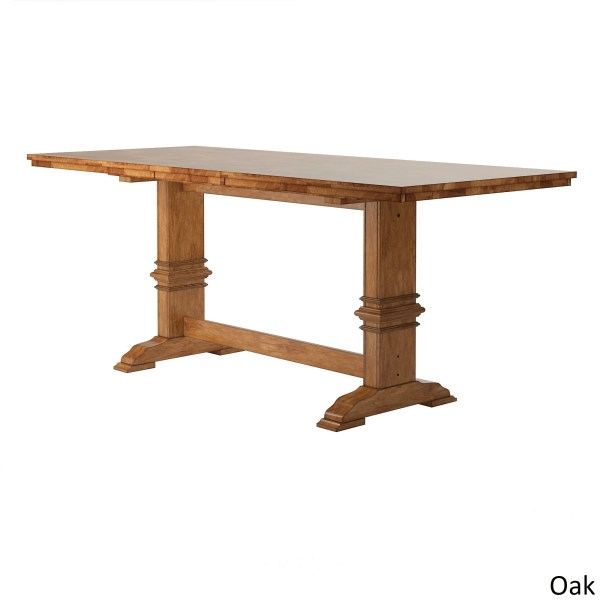 Eleanor Solid Wood Counter Height Trestle Base Dining