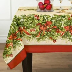 Lenox Christmas Chair Covers Outdoor Chairs At Walmart Shop Holiday Nouveau Table Cloth By Free Shipping On Orders Holly Traditions Printed Fabric Tablecloth