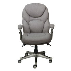 Serta Bonded Leather Executive Chair Office High Works With Back In