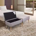 Shop Black Friday Deals On Storage Ottoman Bench 30 Inch Easy Lift Top Upholstered Moroccan Grey Crown Comfort On Sale Overstock 18011195