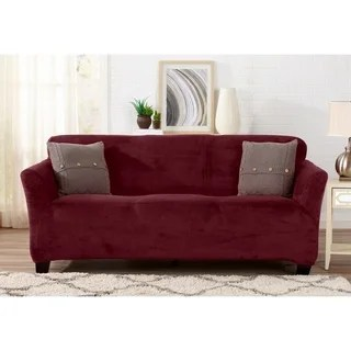 sure fit logan sofa slipcover modern sectionals buy red couch slipcovers online at overstock com our best great bay home velvet plush form