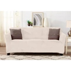 Stretch Morgan 1 Piece Sofa Furniture Cover Sofas With Down Wrapped Cushions Buy Off White Couch Slipcovers Online At Overstock Com Our Great Bay Home Velvet Plush Form Fit Slipcover